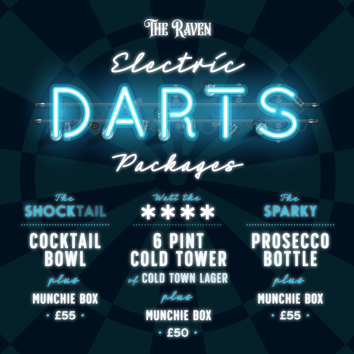 The Raven Electric Darts Glasgow Book Here